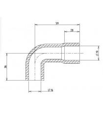 16-19mm Length 36x59mm - Aspiration Hose Motor - REDOX