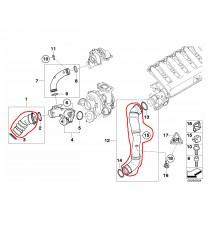Silicone 2 Intake hose turbo origin BMW 1M 135i 535i Z4 N54B30