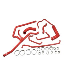 Kit 8 silicone coolant hoses REDOX BMW E36 325i M50B25 (radiator with integrated expansion vessel)