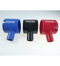 76mm - T Piece Silicone Hose - REDOX