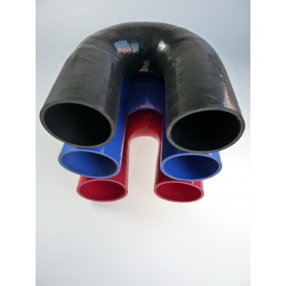 90mm - Coude 180° silicone - REDOX