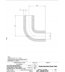16-19mm Length 133x73mm - Return Hose Motor - REDOX