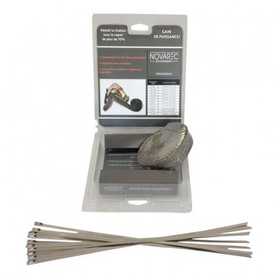 Thermal protection Titanium 45 ° elbow silicone diameter 57-60 mm