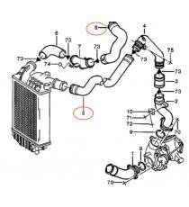 2 air inlet silicone hoses kit for ALFA ROMEO 156 2.4 JTD 841 C000 150cv 03/2002 - 09/2005